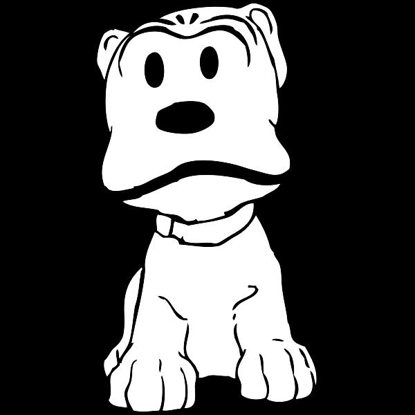 Vector graphics of angry dog