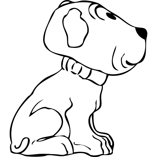 Vector drawing of puppy
