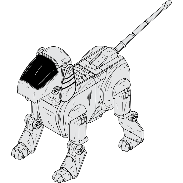 Vector image of dog robot