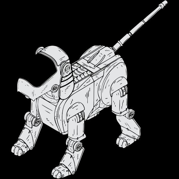 Vector image of dog robot