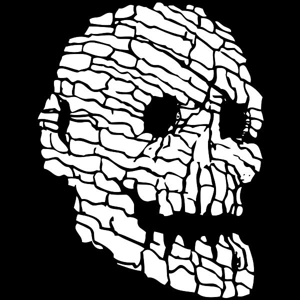 Rock skull vector illustration