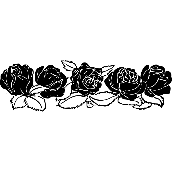 Rose vector border