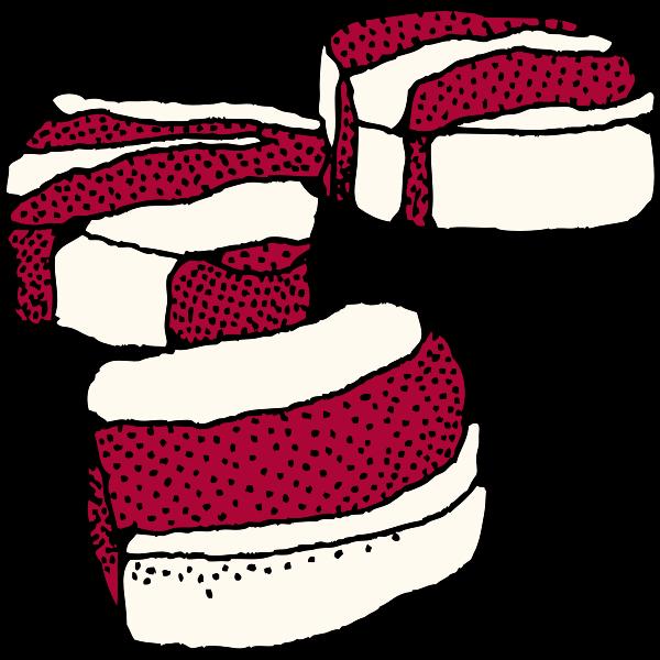 Vector clip art of salt pork