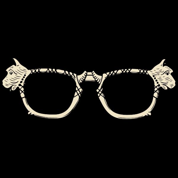Dog glasses vector image