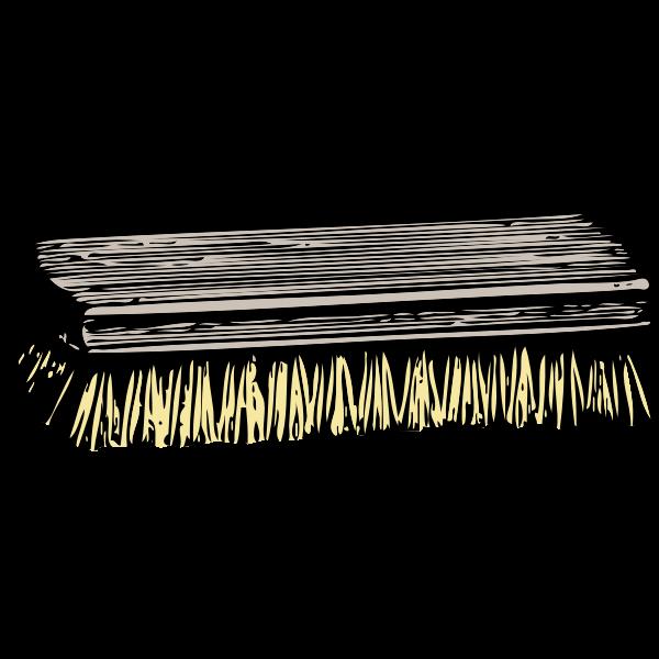 Scrub brush vector illustration