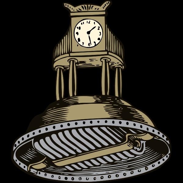Self winding clock vector illustration