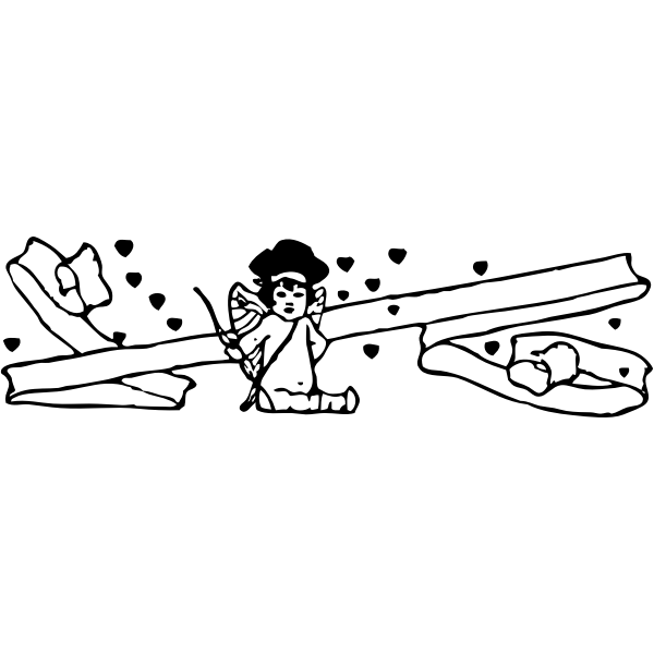 Sitting cupid vector image