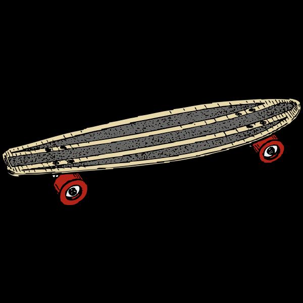 Skateboard vector drawing