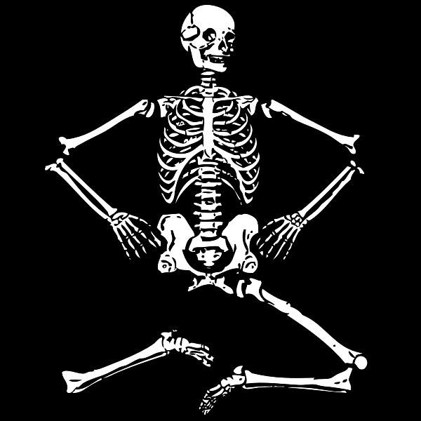 Sitting skeleton vector graphics