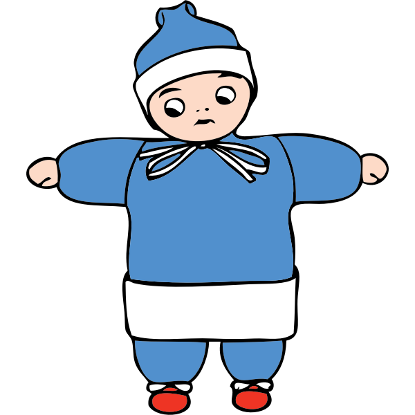Child in winter clothes vector image