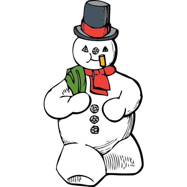 Snowman graphic design