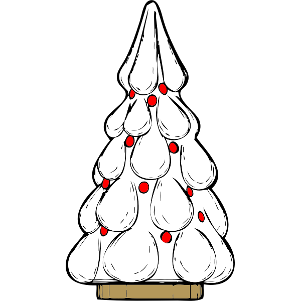 Snowy Xmas tree vector