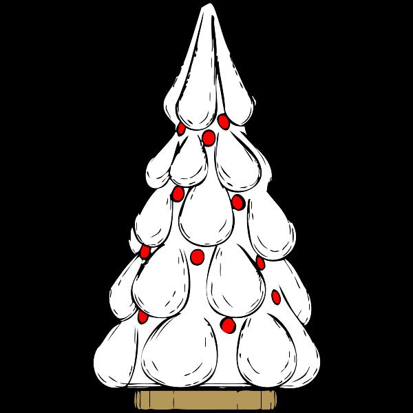 Snowy Xmas tree vector