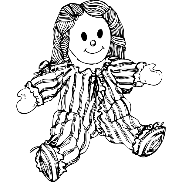 Stuffed doll vector illustration