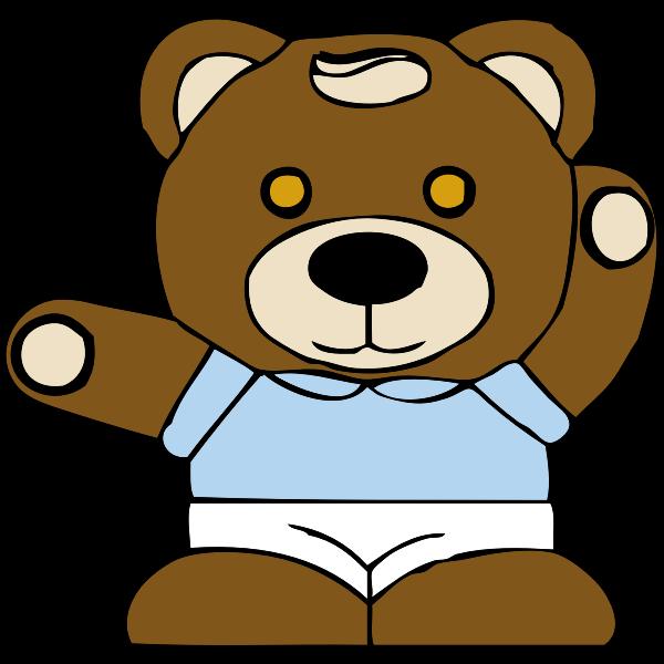 Teddy bear toy vector graphics