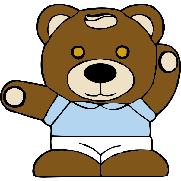 Teddy bear toy vector graphics