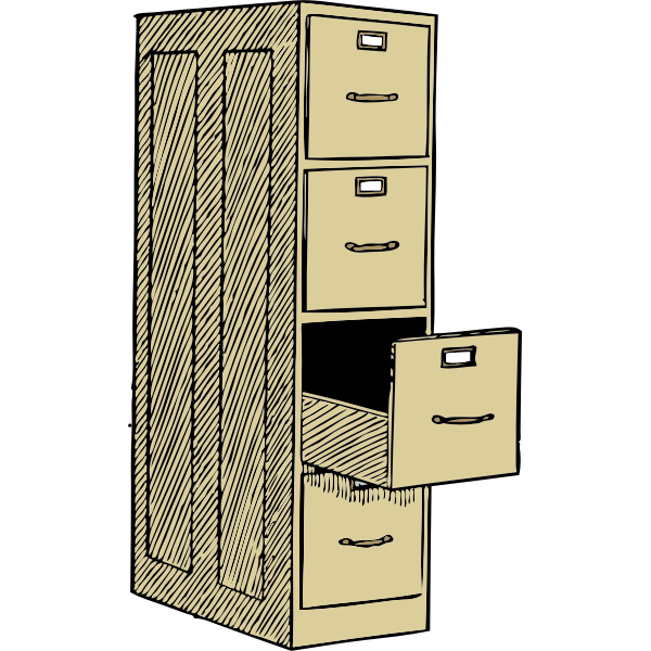Transfer cabinet vector graphics