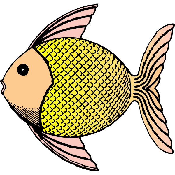 Vector illustration of tropical patterned fish