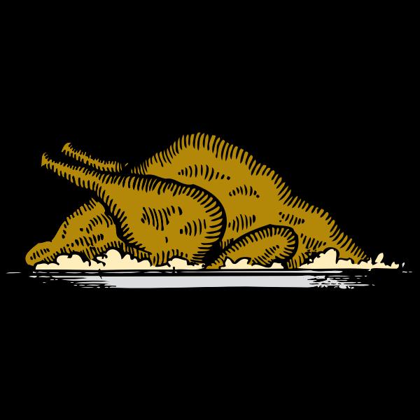 Turkey platter vector