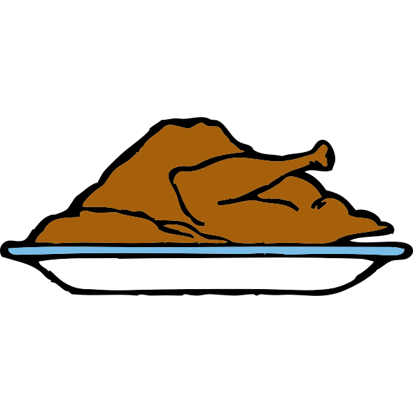 Turkey platter vector illustration