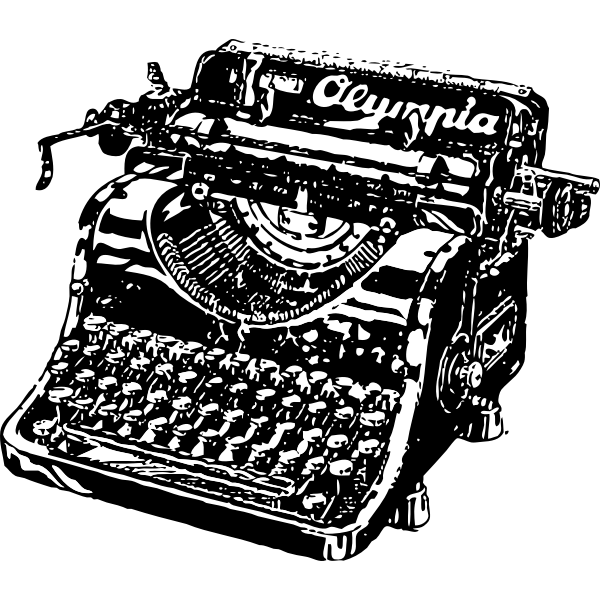 Typewriter vector graphics