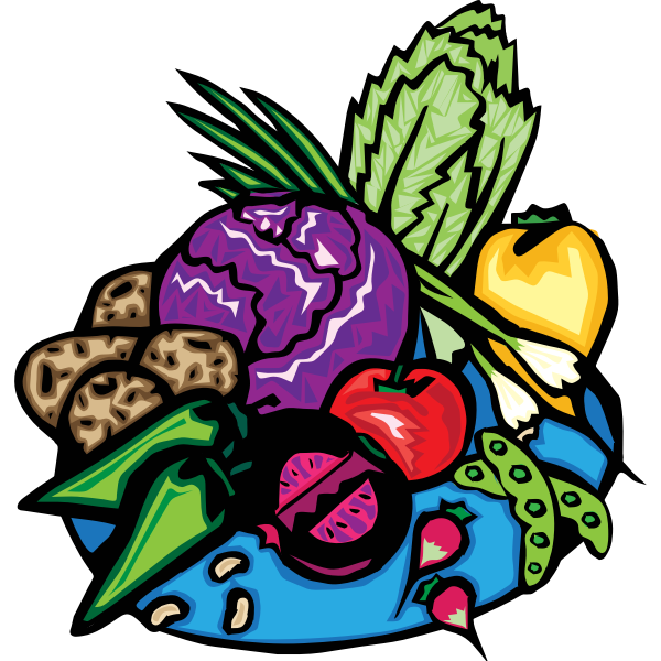 Veggies mix vector clip art
