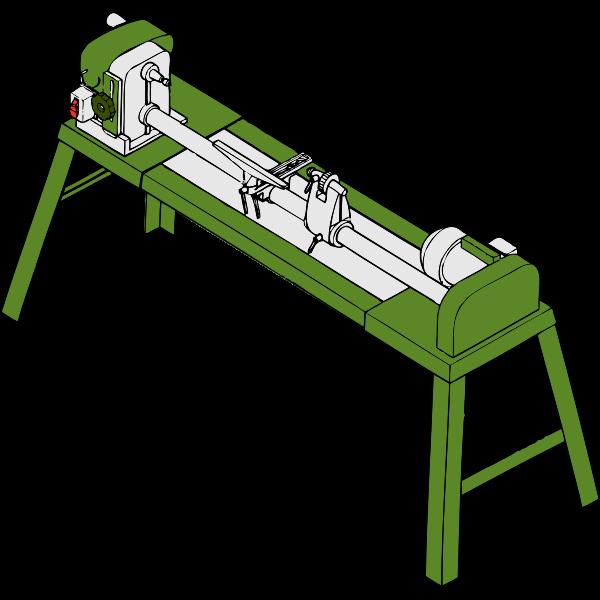 Wood lathe vector drawing