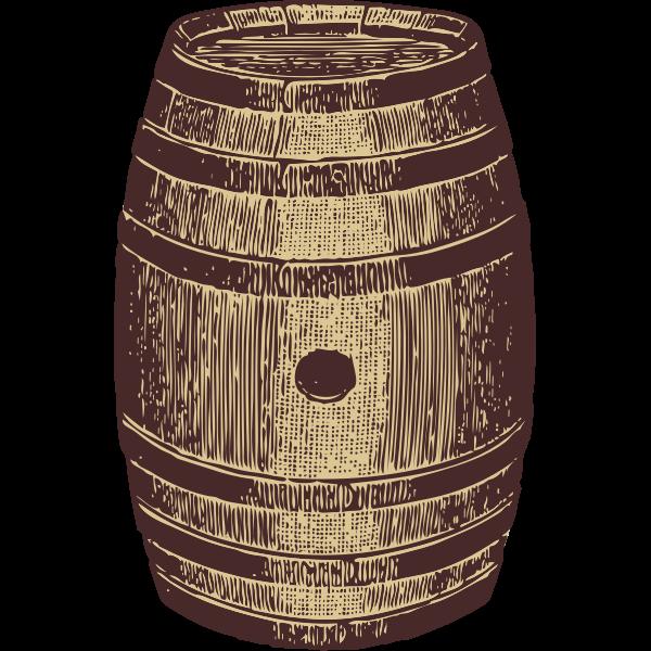 Vector image of a wooden barrel