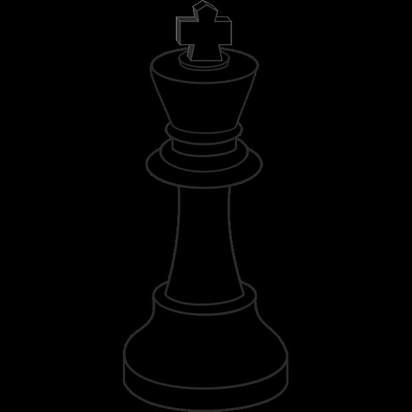 Chess piece, black king