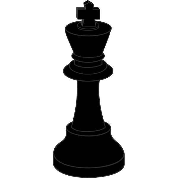 Chess piece, black king
