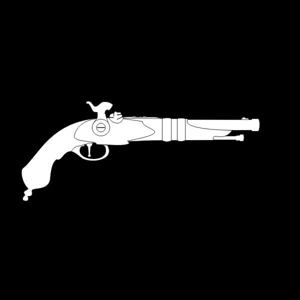 Percussion cap musket gun vector image