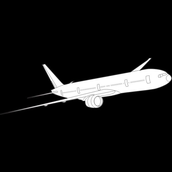 Boeing 777 vector image