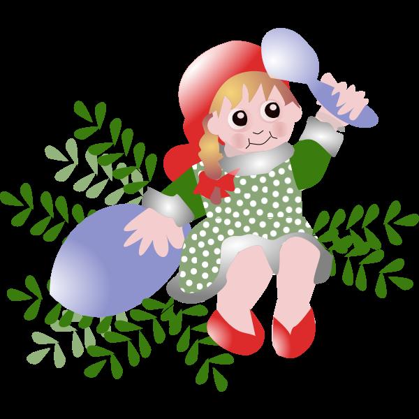 Danish Christmas vector illustration