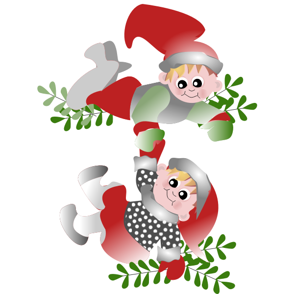 Vector Christmas figures