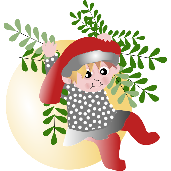 Little girl in Christmas vector