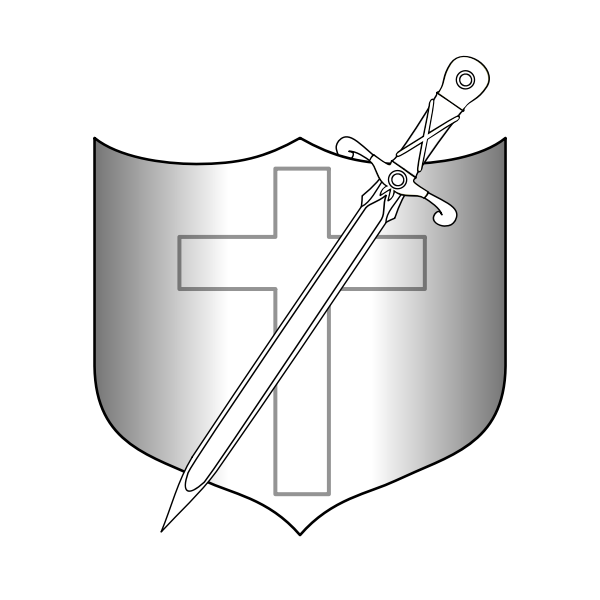 Shield and long sword