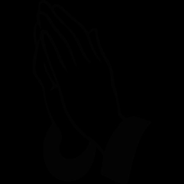 Praying Hands Silhouette