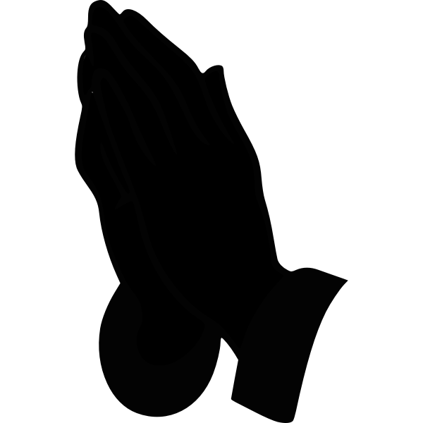 Praying Hands Silhouette