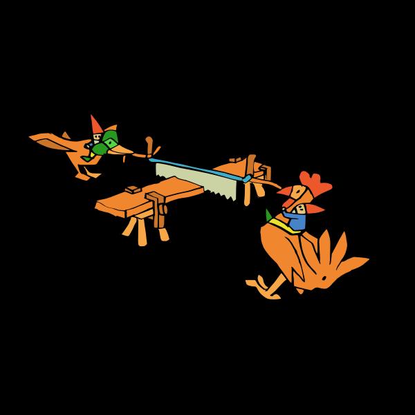 Birds sawing