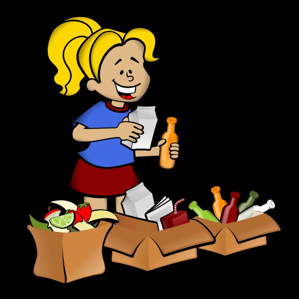 Waste separation vector illustration