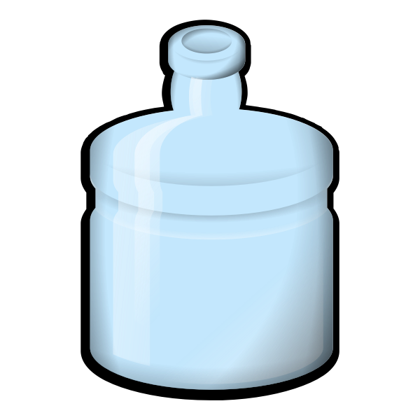 Blue glass bottle vector illustration