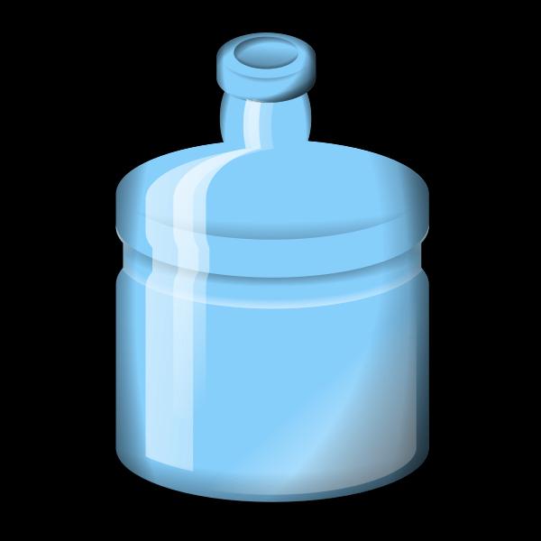 Blue glass bottle vector illustration