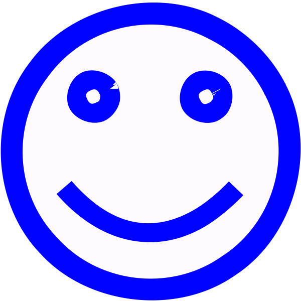 Blue smiley face vector image