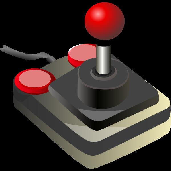 Color video game joystick vector clip art