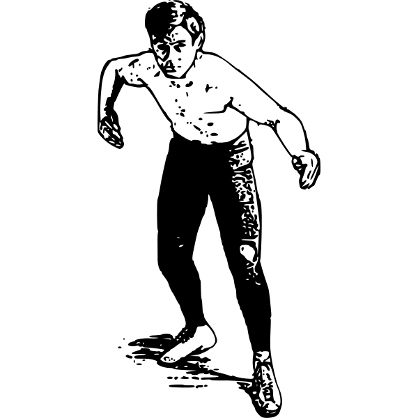 Wrestler vector clip art