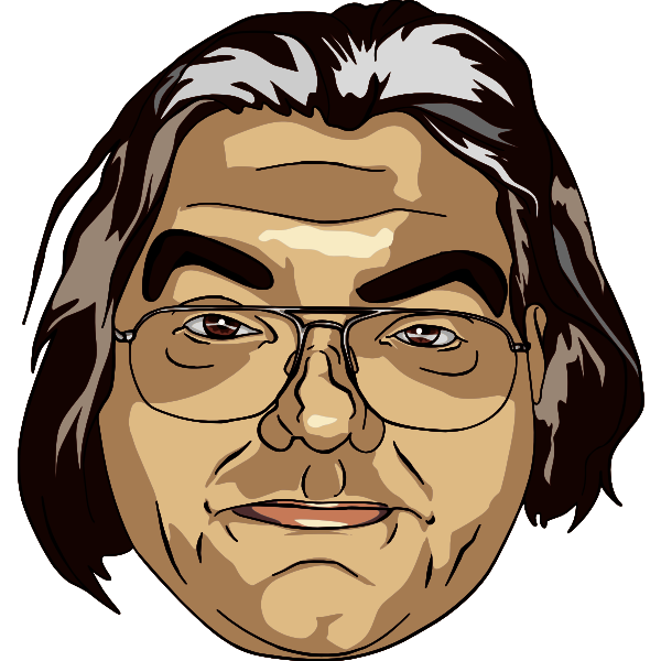 Man portrait digital vector drawing