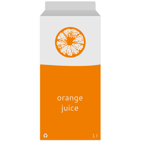 Vector graphics of juice in box