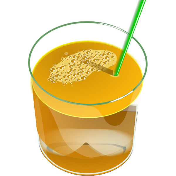 Vector image of glass of juice