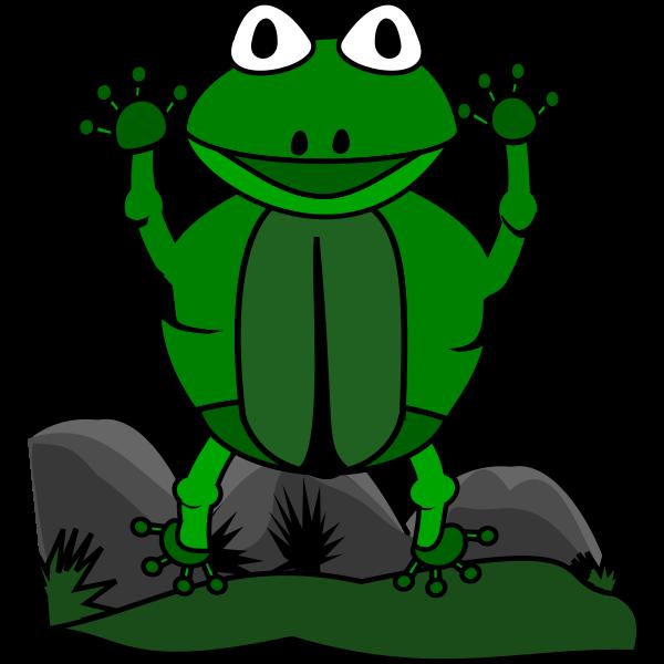 jumping frog closeup