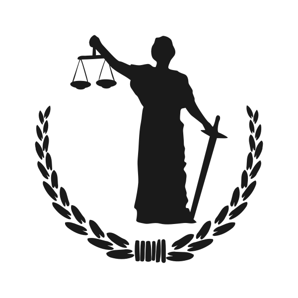 Goddess of Justice sign vector image